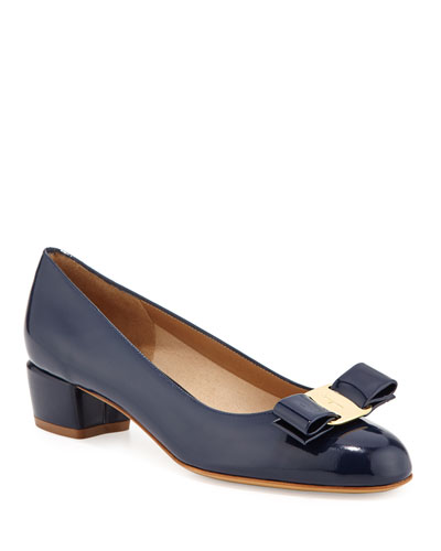 Patent Bow Pump, Oxford Blue