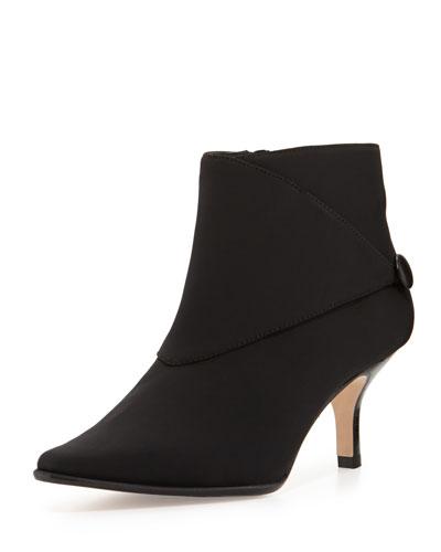Loli Crepe Ankle Boot, Black