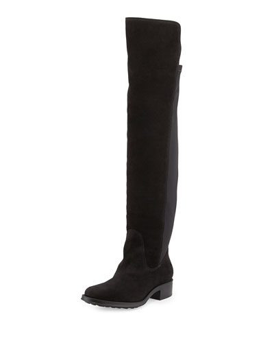 Stagecoach Suede Over-the-Knee Boot, Black