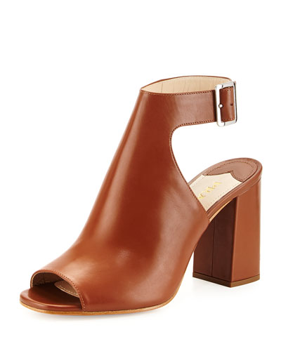 Leather Ankle-Wrap Sandal