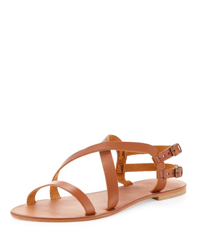 Socoa Strappy Leather Sandal, Cognac