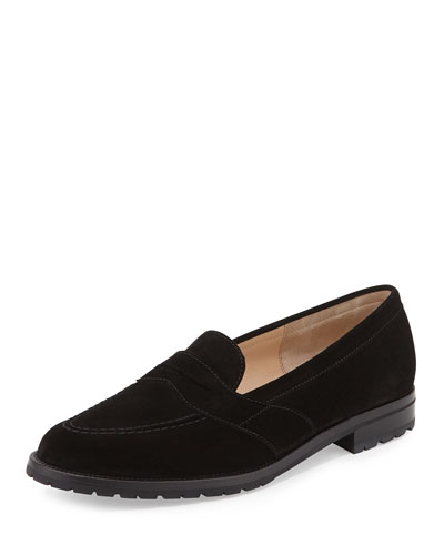 Consulta Buck Suede Loafer, Black