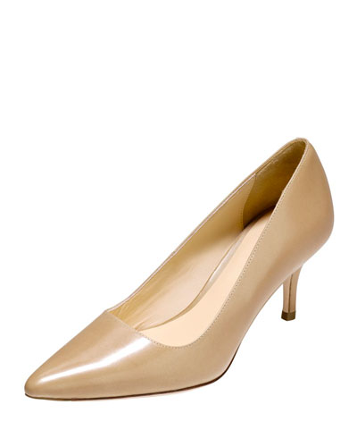 Bradshaw Leather Point-Toe Pump, Maple Sugar