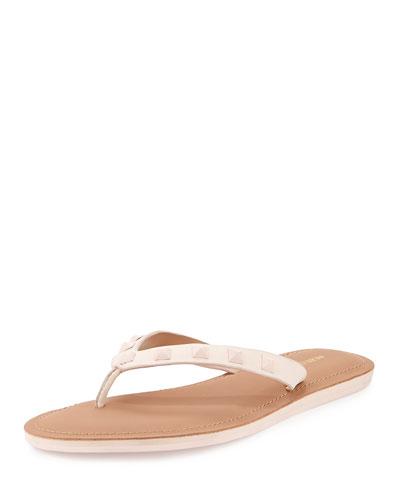 Fiona Studded Thong Sandal, Blush