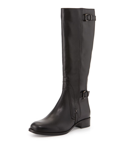 Suzanna Leather Knee Boot, Black