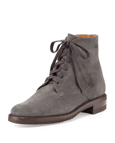 Suede Lace-Up Bootie