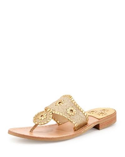 Sparkle Thong Sandal, Gold
