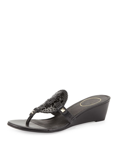 Devyn Demi-Wedge Sandal, Black