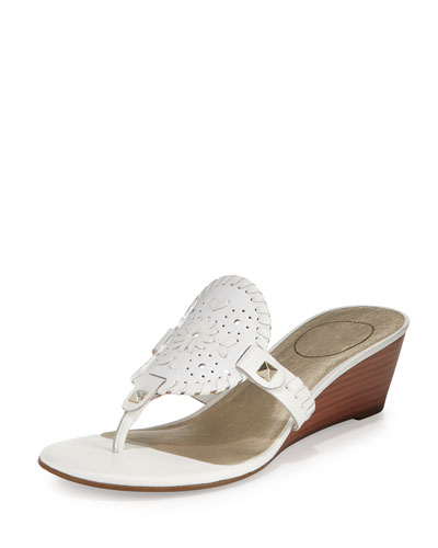Devyn Demi-Wedge Sandal, White
