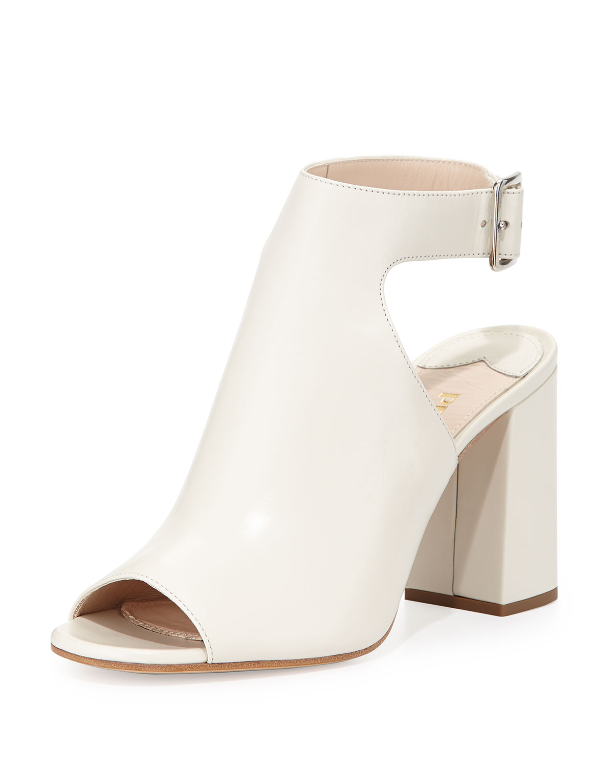 Leather Ankle-Wrap Sandal, Talco