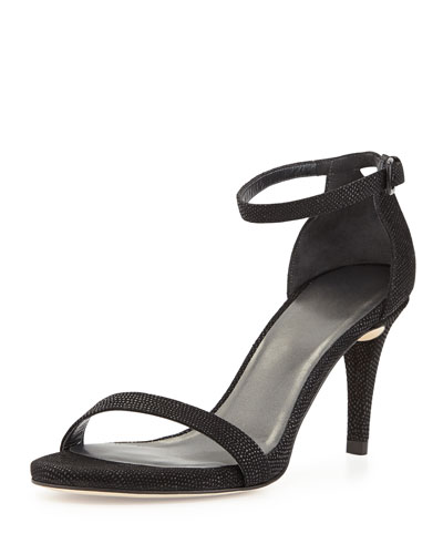 Nunaked Leather Sandal, Black