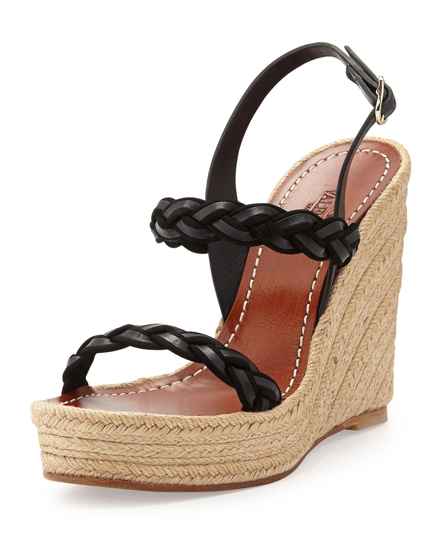 Twist Espadrille Wedge Sandal
