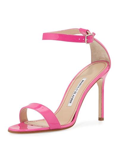 Chaos Patent High-Heel Sandal, Pink