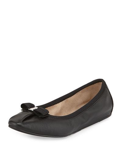 My Joy Matte Leather Ballet Flat, Nero