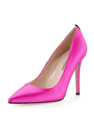 Fawn Pointed-Toe Pump, Pink