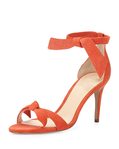 Patty Suede Bow-Tie d'Orsay Sandal, Dalia