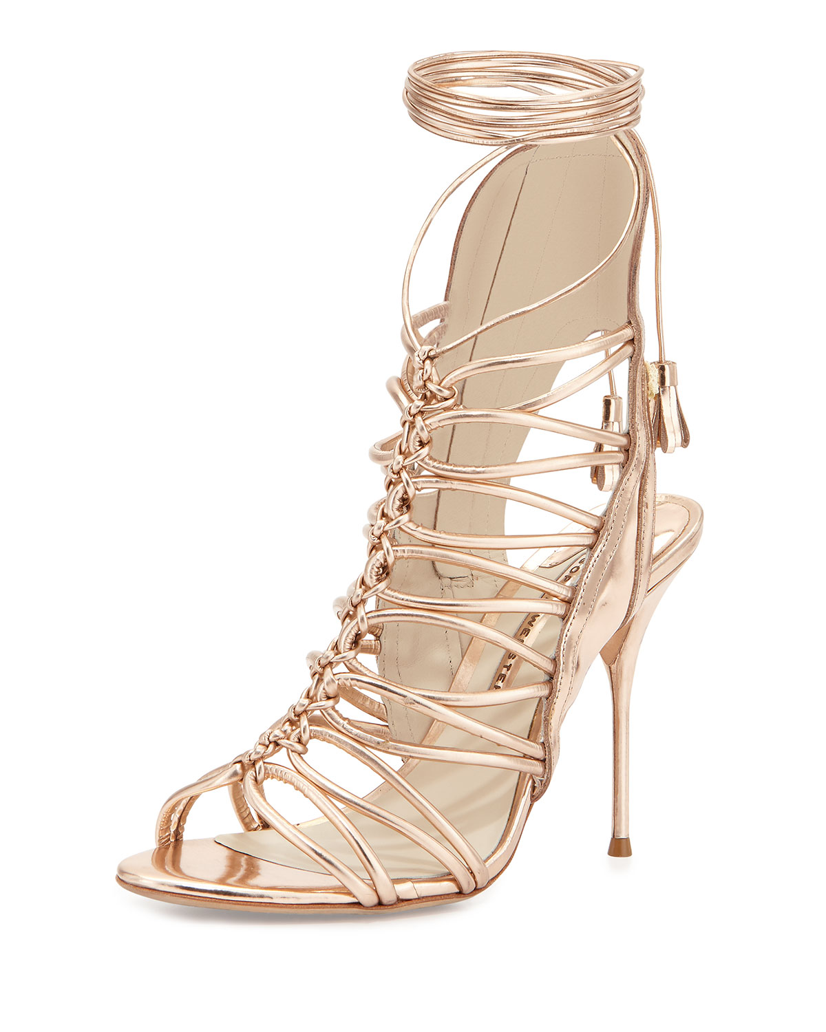 Lacey Lace-Up Gladiator Sandal, Rose