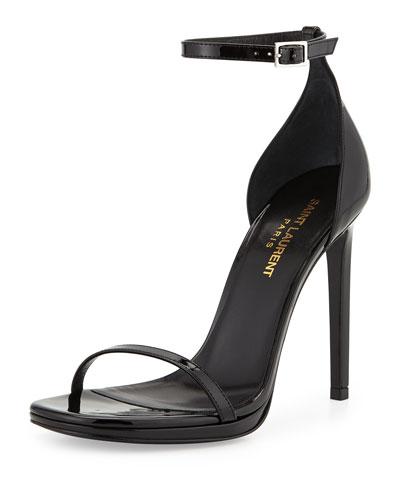 Jane Patent Sandal, Black