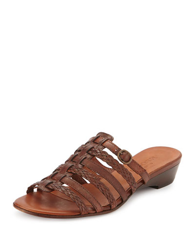 Greer Strappy Woven Sandal, Cuoio
