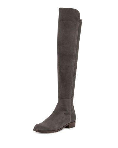 50/50 Suede Over-the-Knee Boot, Londra