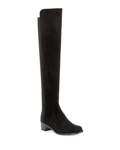 Reserve Suede Over-the-Knee Boots, Black