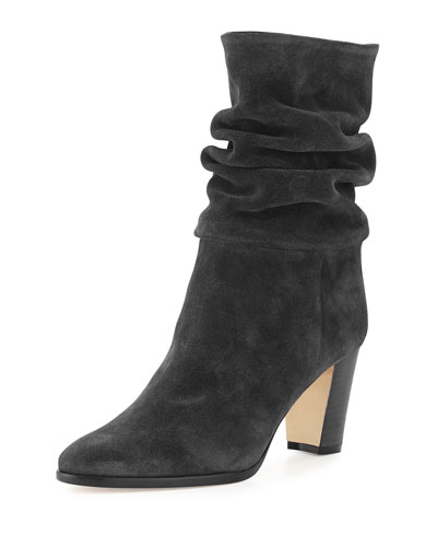 Knight Slouchy Suede Boot, Alaska Gray