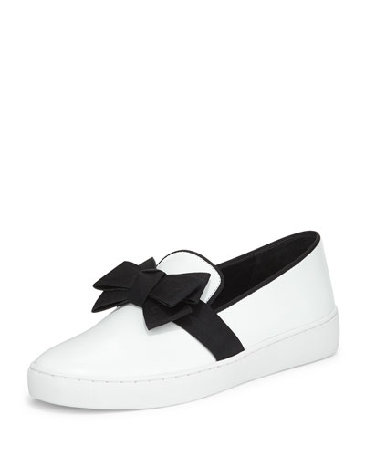 Val Runway Bow Skate Shoe, Optic White