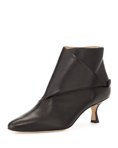 Diaz Leather Ankle Bootie, Black
