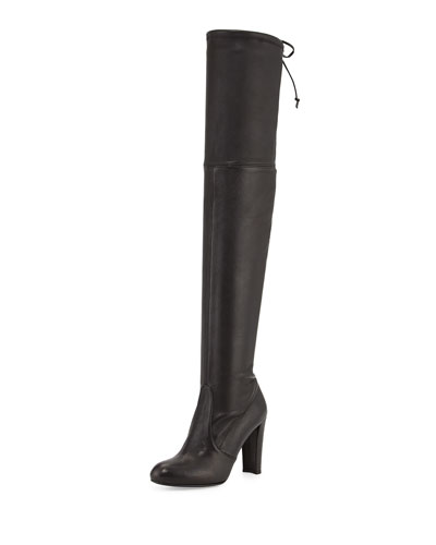 Highland Leather Over-The-Knee Boot, Nero