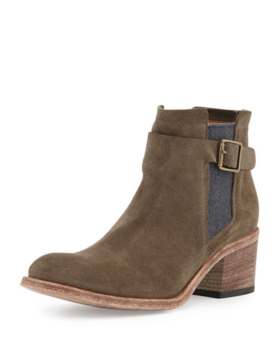 Carina Suede Ankle Bootie, Dove