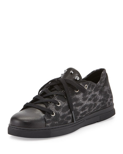Touchdown Leopard-Print Sneaker
