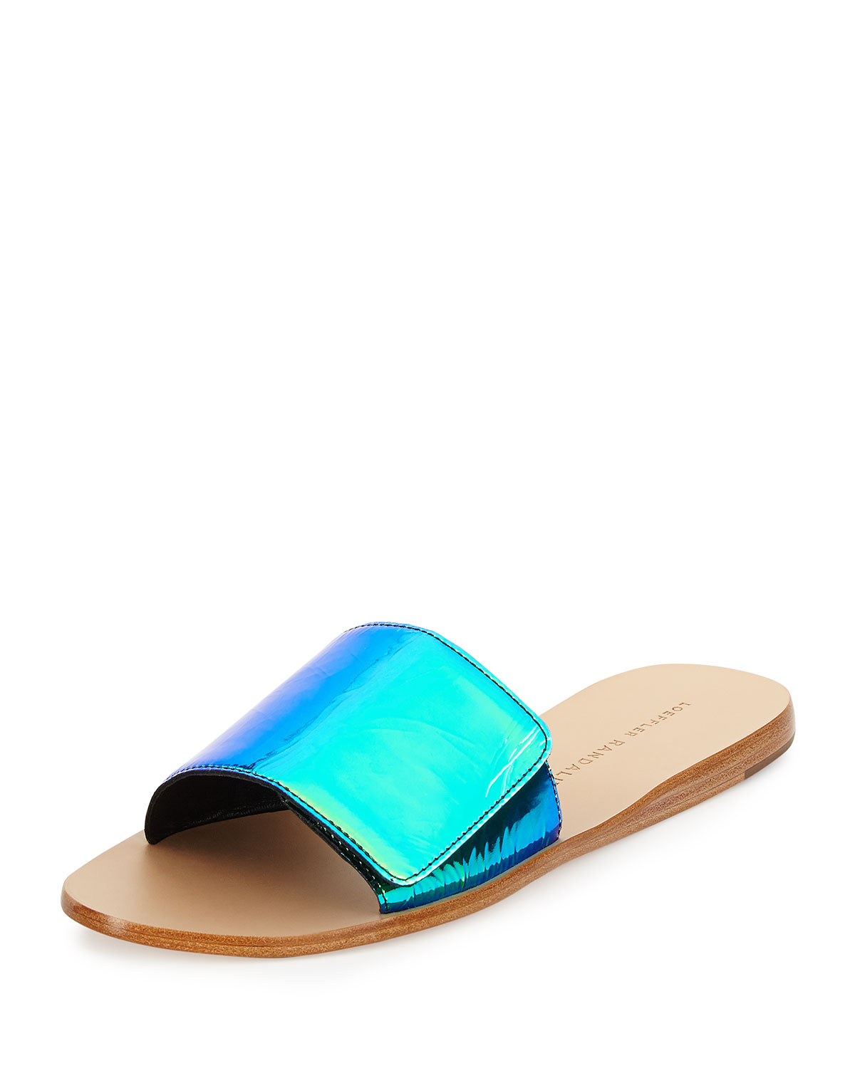 Sibi Iridescent Sandal Slide, Acid