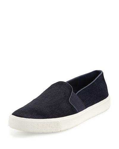 Blair-12 Calf-Hair Skate Sneaker, Blue Marine