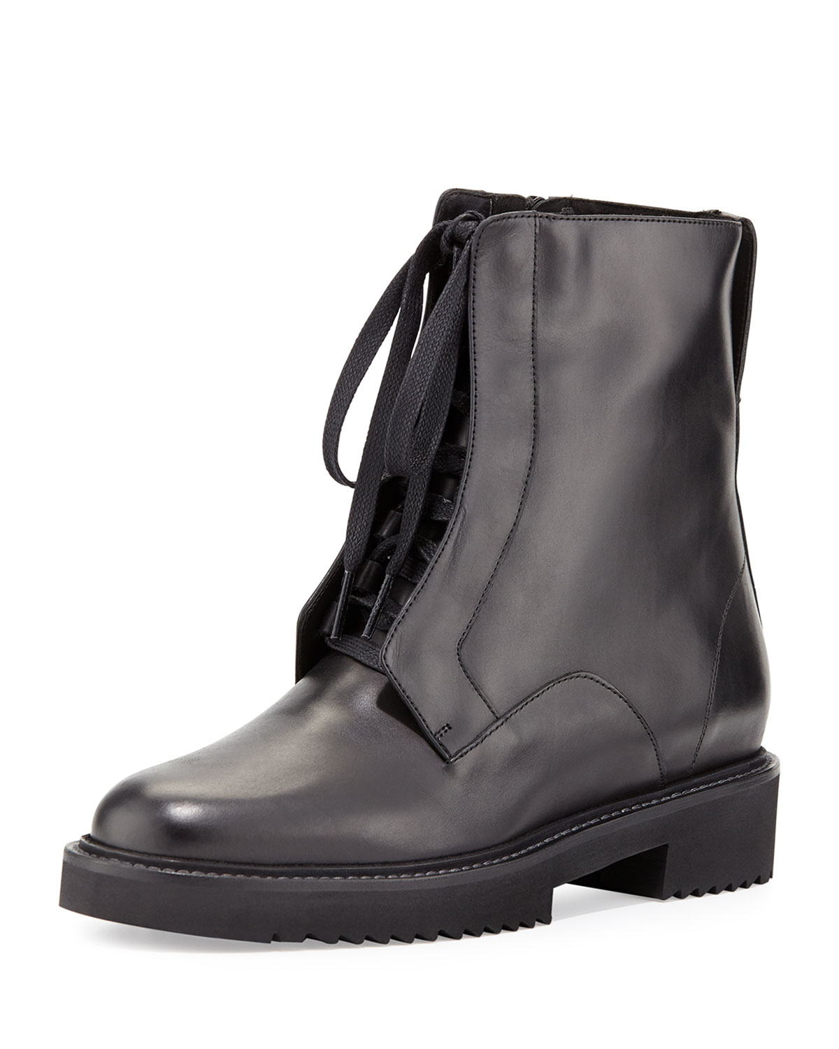 Connelly Leather Combat Boot, Black