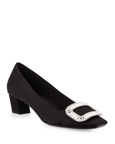 Belle Vivier Pumps w/Swarovski® Crystal Buckle