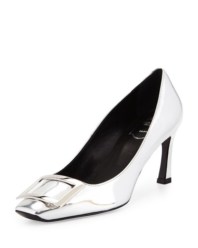 Trompette Metallic 70mm Pump, Silver