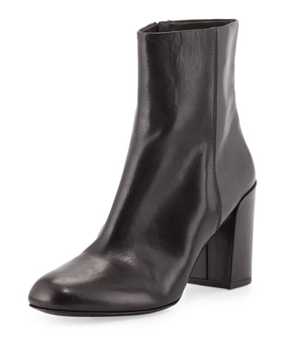 Hana Leather Ankle Boot, Black
