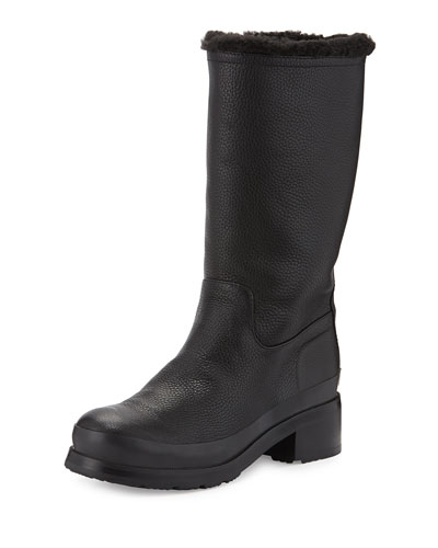 Original Shearling-Lined Pull-On Boot, Black