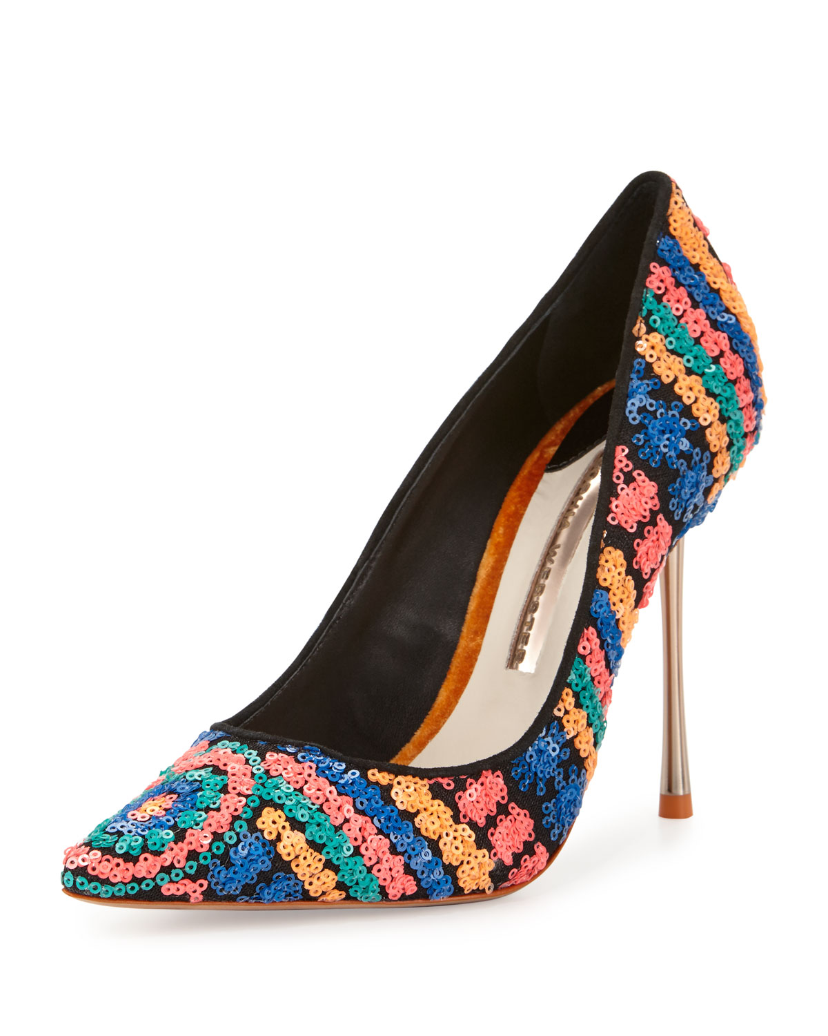 Coco Iridescent Sequin Pump, Multi