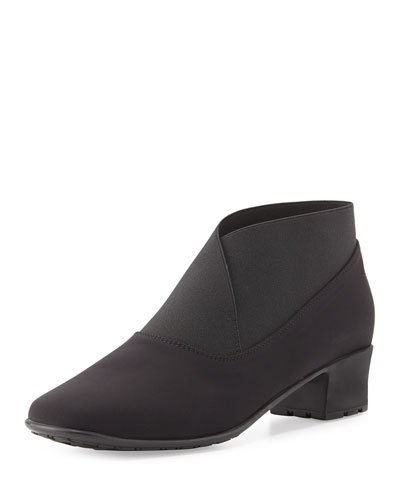 Yates Waterproof Stretch-Fabric Bootie, Black