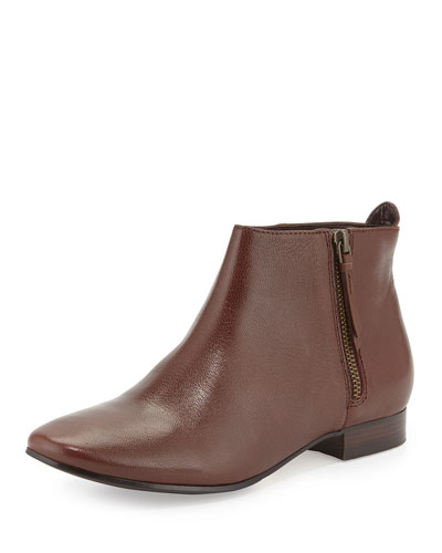 Belmont Leather Bootie, Chestnut