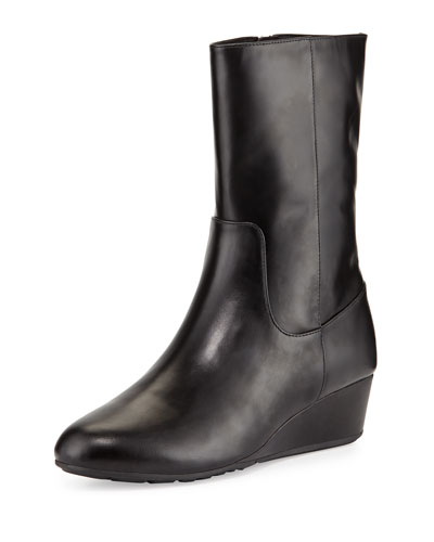 Tali GRAND O/S Short Leather Boot, Black