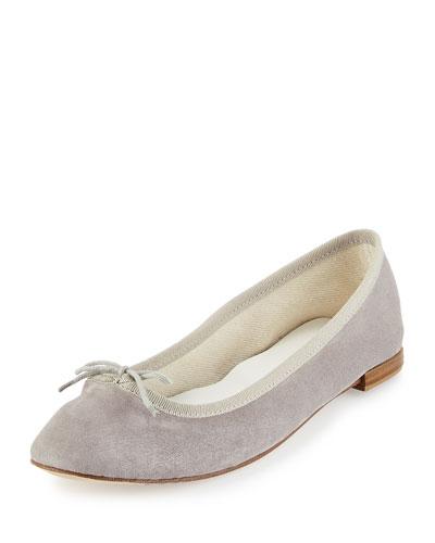 Cendrillon Suede Ballet Flat, Light Gray