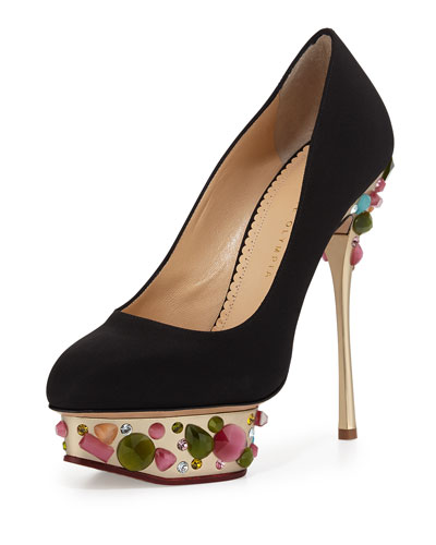 Dolly On-the-Rocks Pump, Black