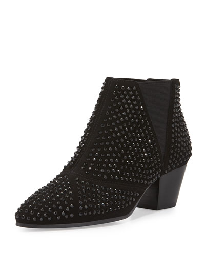 Hypnotic Studded Ankle Boot, Black