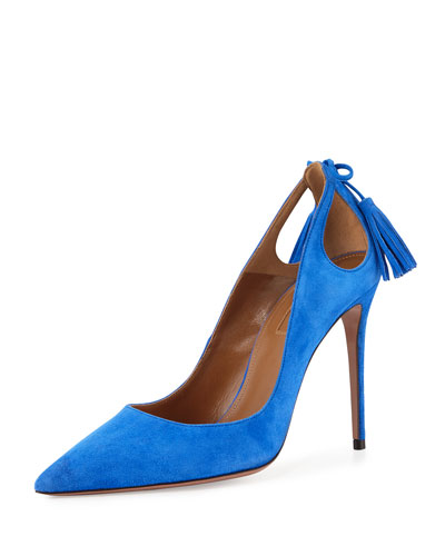 Forever Marilyn Cutout Pump, Mondrian Blue