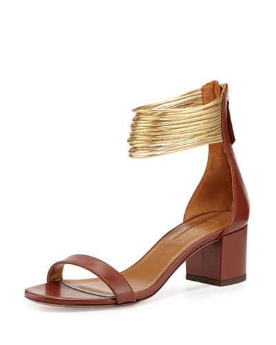 Spin Me Around Multi-Strap Sandal, Luggage