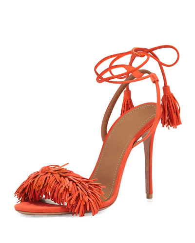 Wild Thing Suede Sandal, Clementine