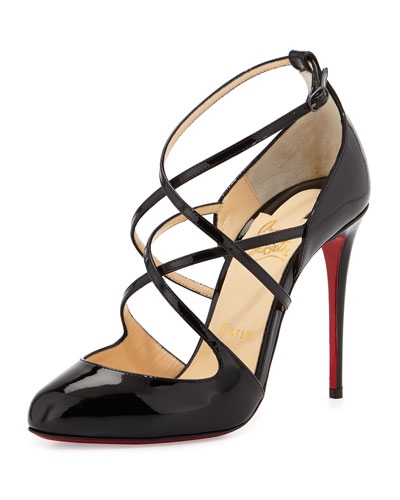 Soustelissimo Strappy Red Sole Pump, Black
