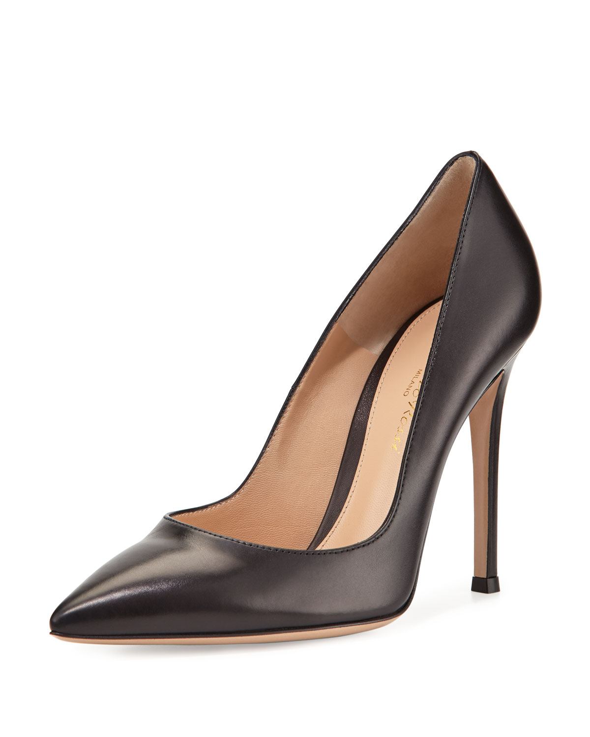 Gianvito 105mm Leather Pump, Black
